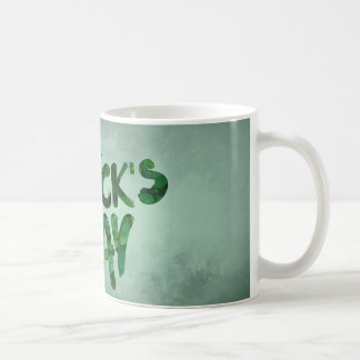 St Patrick's Day Green Clover Irish Celtic Coffee Mug