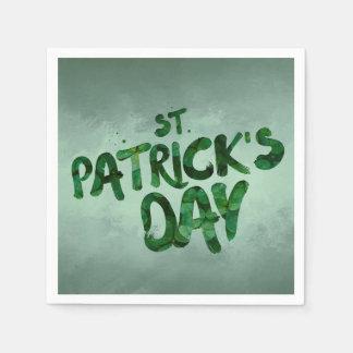 St Patrick's Day Green Clover Irish Celtic Paper Napkins