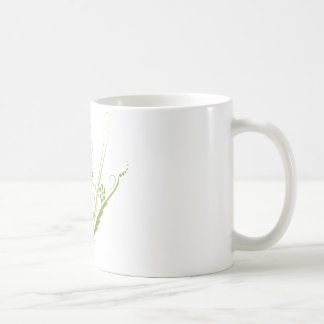 St. Patrick's Day Green Heart Art Basic White Mug