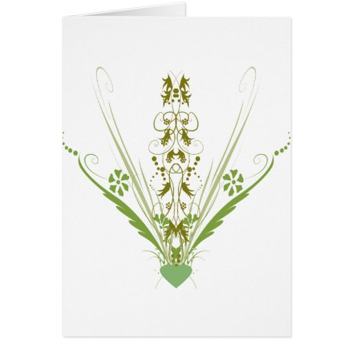 St. Patrick's Day Green Heart Art Greeting Cards