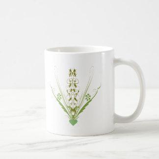 St. Patrick's Day Green Heart Art Classic White Coffee Mug