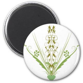 St. Patrick's Day Green Heart Art Fridge Magnet