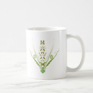 St. Patrick's Day Green Heart Art Coffee Mug