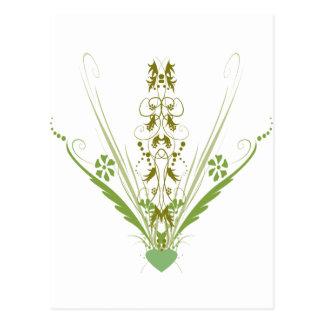 St. Patrick's Day Green Heart Art Postcard