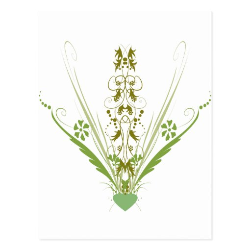 St. Patrick's Day Green Heart Art Postcards