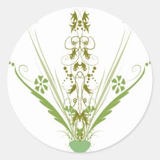 St. Patrick's Day Green Heart Art Round Sticker