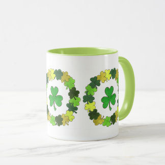 St. Patrick's Day Green Irish Shamrock Wreath Mug