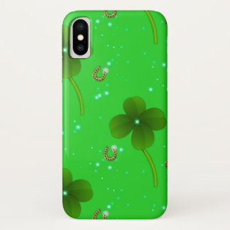 St. Patrick's Day Green Lucky Clover Case-Mate iPhone Case