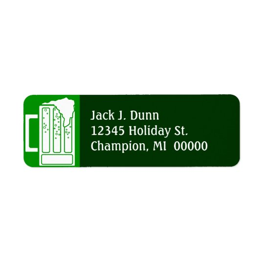 St. Patrick's Day Green Party Beer Address Labels