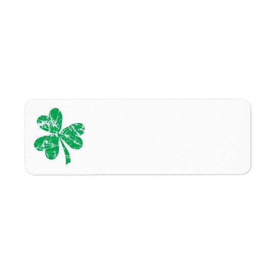 St. Patrick's Day Green Shamrock Return Address Label