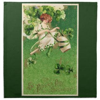 St. Patrick's Day Greeting Napkin