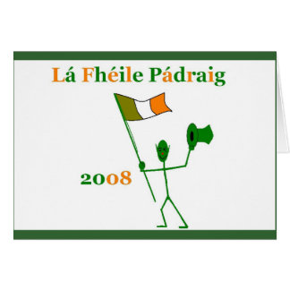 st patricks day greeting note card