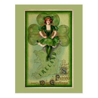 St Patricks Day Greetings Postcard