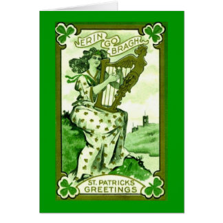 St Patrick's Day greetingscard Card
