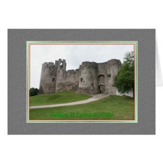 St. Patrick's Day Grey Castle Card