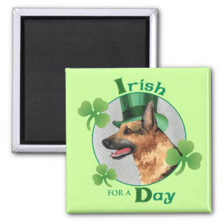 St. Patrick's Day GSD Magnet