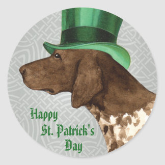 St. Patrick's Day GSP Round Sticker
