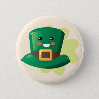 St. Patrick's Day Happy Hat 2 Inch Round Button