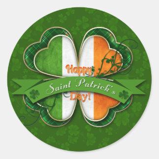 St. Patrick's Day - Happy St. Patrick's Day Round Sticker
