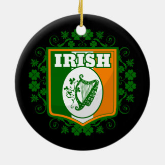 St Patrick's Day Harp Ceramic Ornament