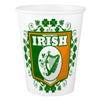 St Patrick's Day Harp Paper Cup
