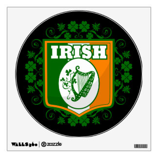 St Patrick's Day Harp Wall Decal