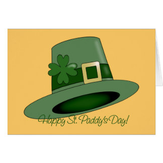 St. Patrick's Day Hat Note Card
