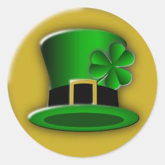 St Patricks Day Hat Round Stickers Round Sticker