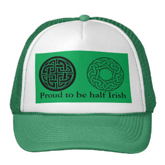 St Patrick's Day Hat with  Double Celtic Knots