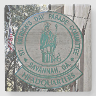 St. Patrick's Day Headquarters, Savannah Coaster Stone Coaster