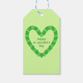 St Patrick's Day Heart Gift Tags