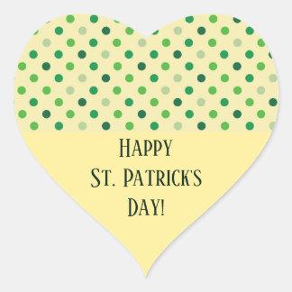 St Patricks Day Heart Heart Sticker