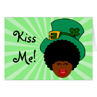St. Patrick's Day Humor: Kiss Me. I'm Black Irish! Note Card