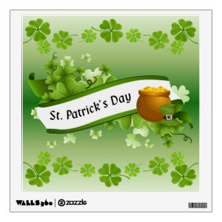 St. Patrick's Day in Shamrocks Wall Decal