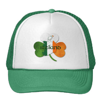 St. Patrick's Day / Ireland Map Clover Trucker Hat