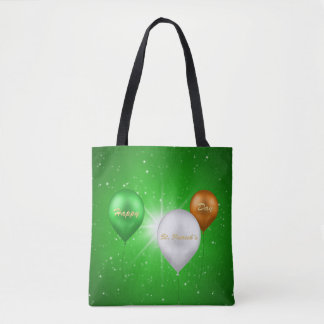 St. Patrick's Day Irish Balloons - Tote Bag