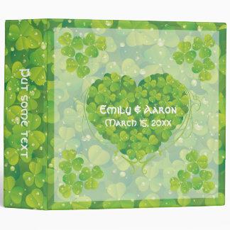 St. Patrick's Day Irish clover wedding binder
