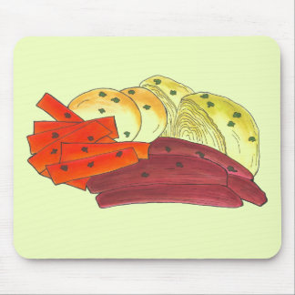 St. Patrick's Day Irish Corned Beef Cabbage Potato Mouse Pad