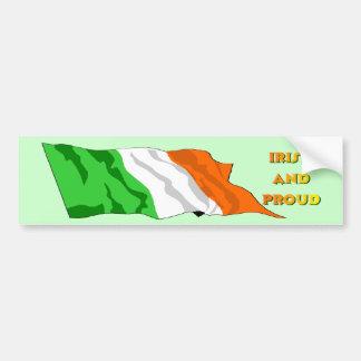 St Patrick's Day Irish Flag Car Bumper Sticker