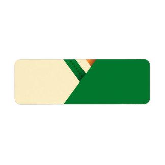 St Patrick's Day Irish Flag Shamrock Return Address Label