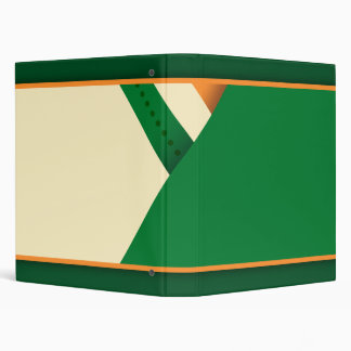 St Patrick's Day Irish Flag Shamrock Vinyl Binders