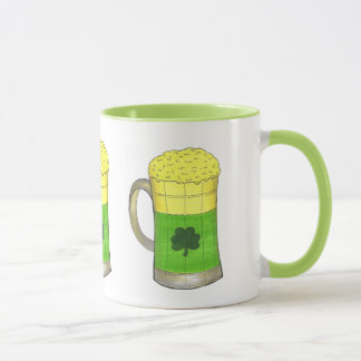 St. Patrick's Day Irish Green Shamrock Beer Mug