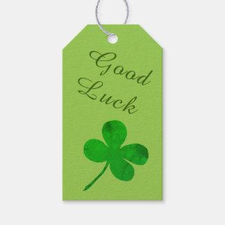 St Patricks Day Irish Green Shamrock Good Luck Gift Tags
