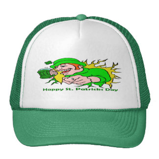 St Patrick's Day Irish Lad with Green Beer Trucker Hat