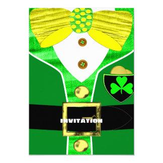 St Patrick's Day   Irish Leprechaun Personalized Card