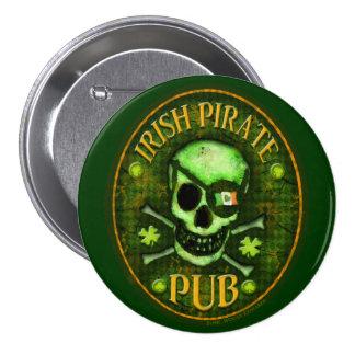 St. Patrick's Day Irish Pirate Pub Button