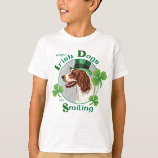 St. Patrick's Day Irish Red & White Setter T-Shirt