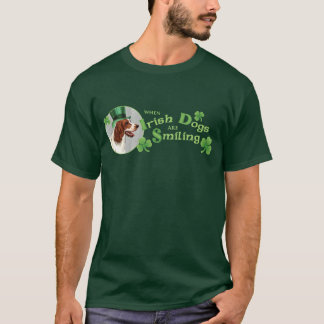 St. Patrick's Day Irish Red & White Setter T-Shirt
