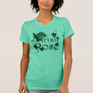 St Patricks Day Irish Rose Ladies T-shirt