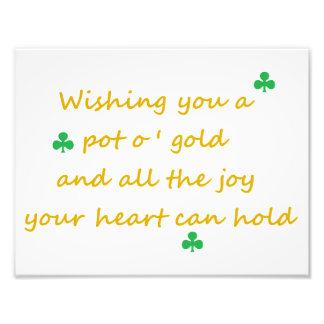 "St. patrick's Day Irish Saying 8.5""x11"" Print"